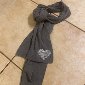 Twisted Heart Cashmere Scarf crystal heart